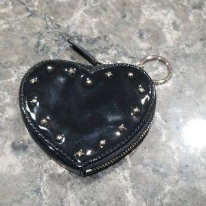 Coach heart shaped coin purse